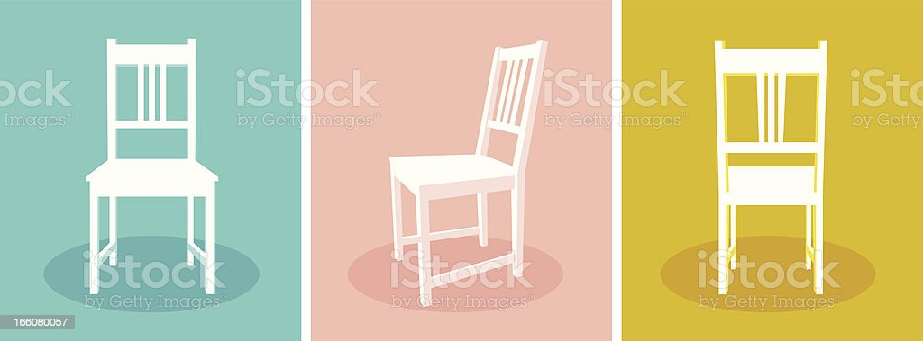 Chairs. vector art illustration