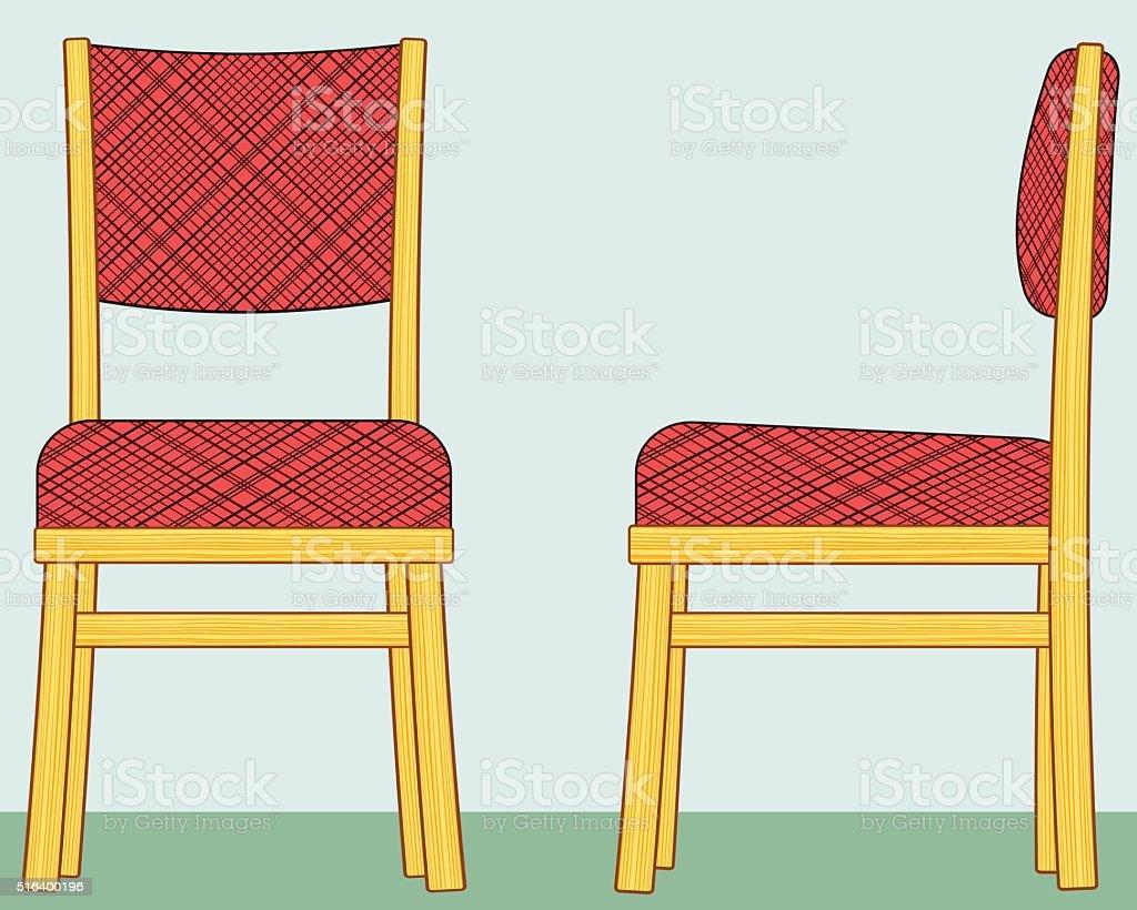 Chairs vector art illustration