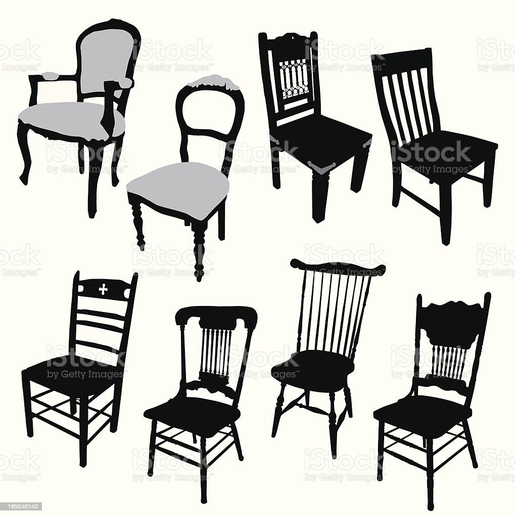 Chairs Vector Silhouette royalty-free stock vector art