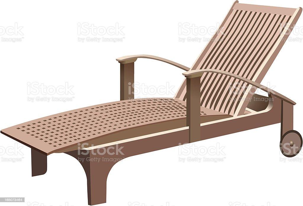 Chaise longue vector art illustration