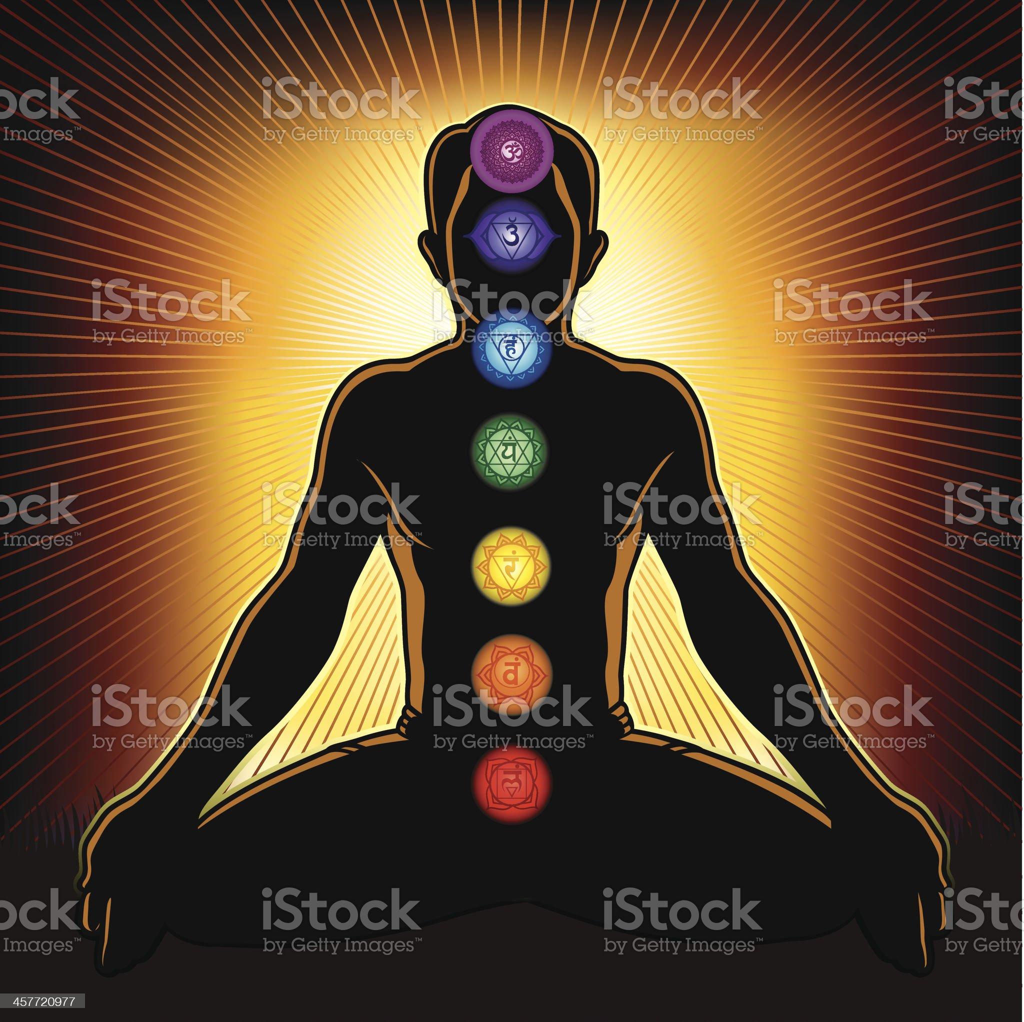 Chakra and Meditation royalty-free stock vector art
