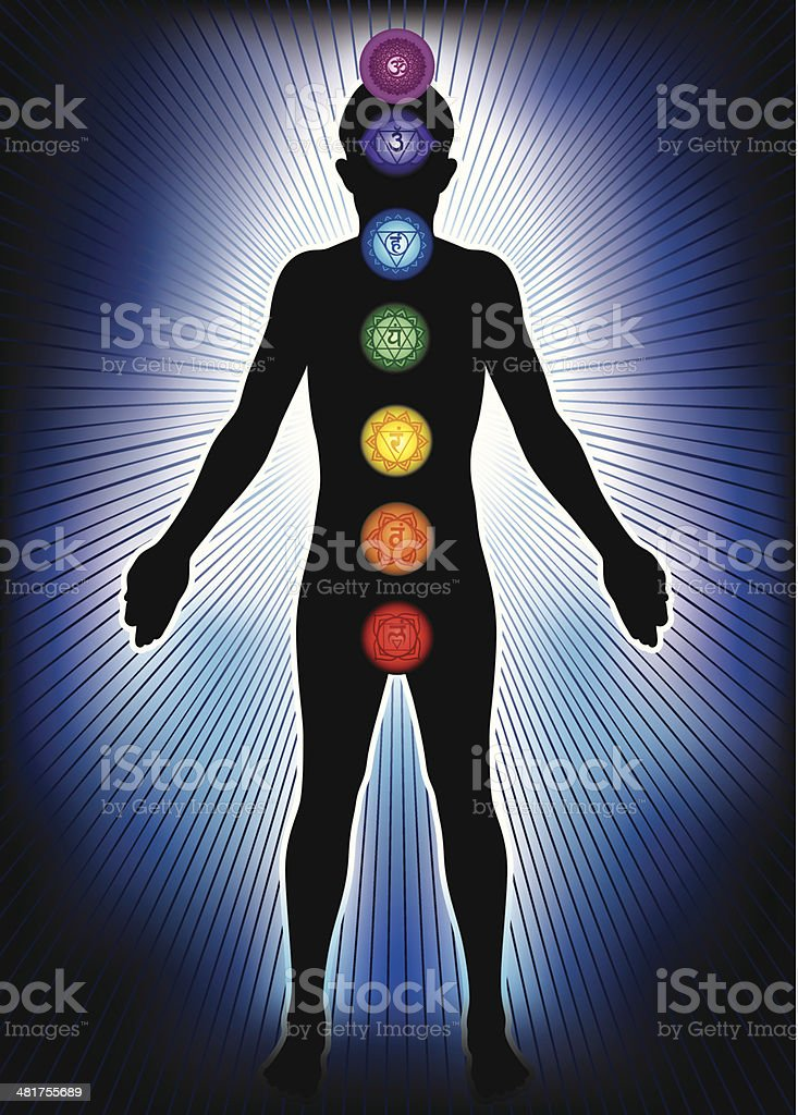 Chakra and Meditation vector art illustration