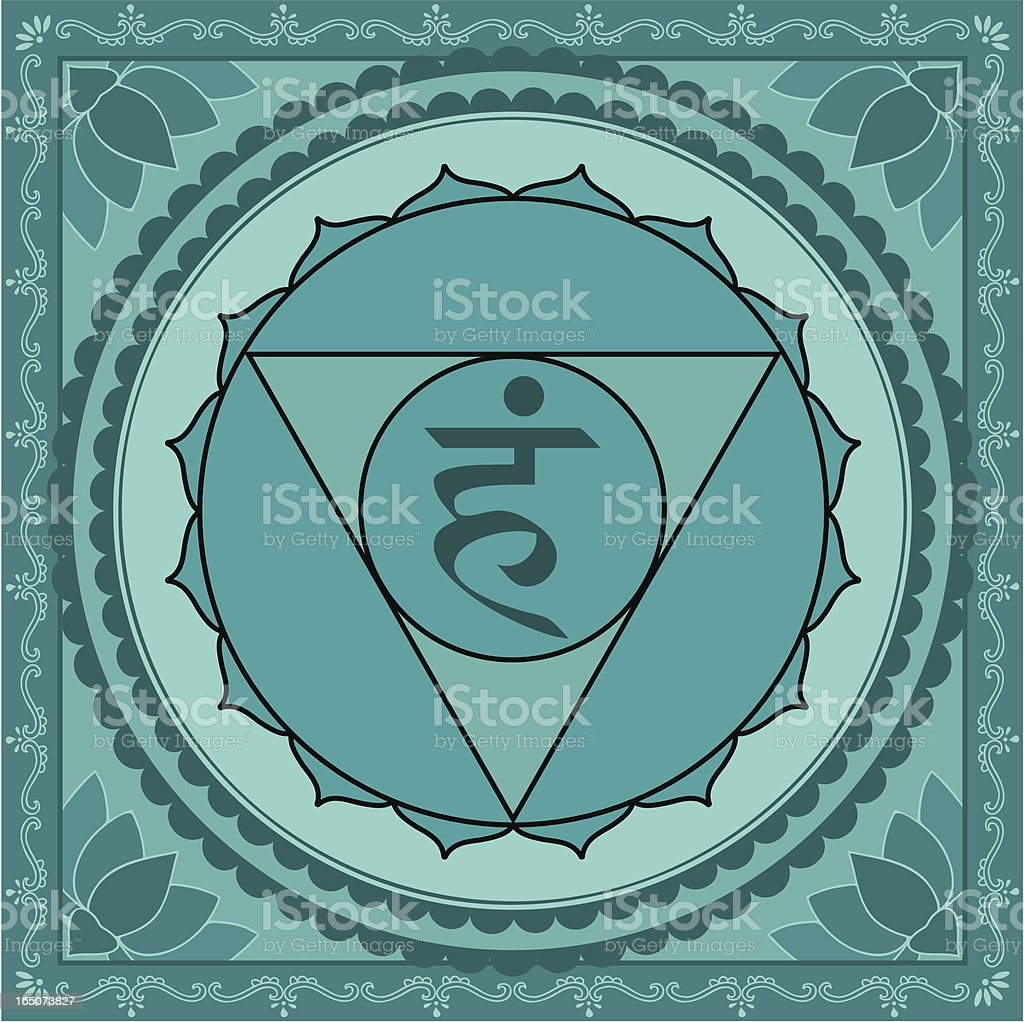 Chakra Five (Vector) royalty-free stock vector art