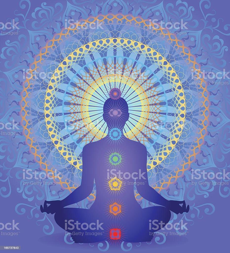 Chakra Mandala vector art illustration