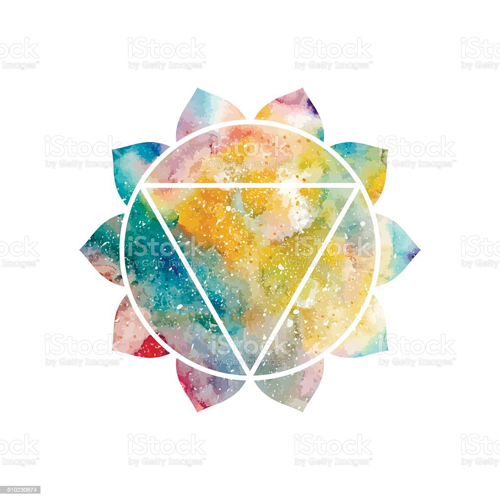 Chakra Manipura vector vector art illustration