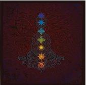 Chakra meditation drawing with colors