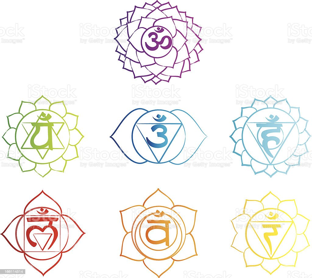 Chakra Symbol royalty-free stock vector art