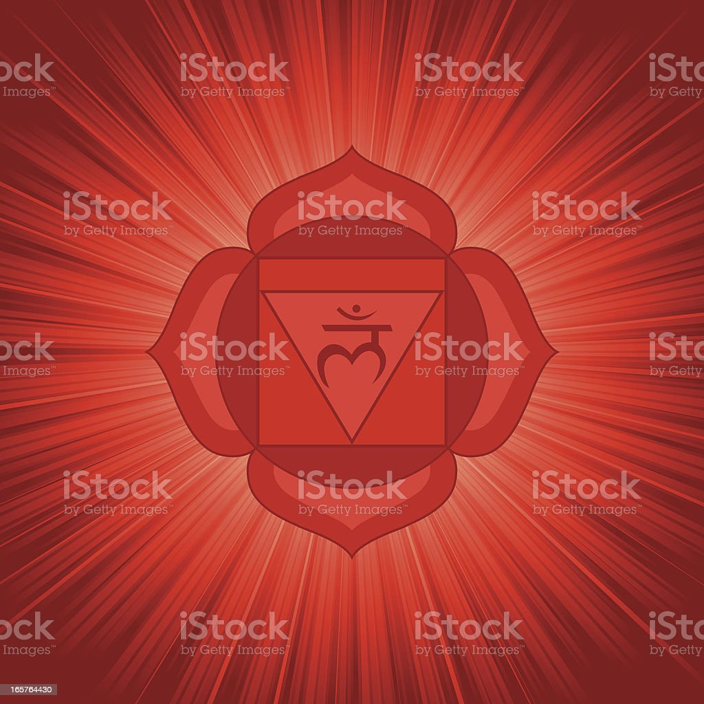 Chakra Symbol-1 royalty-free stock vector art