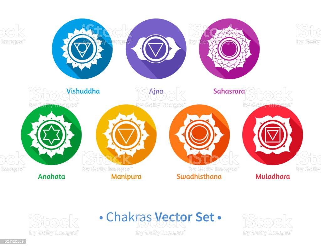 Chakras. vector art illustration