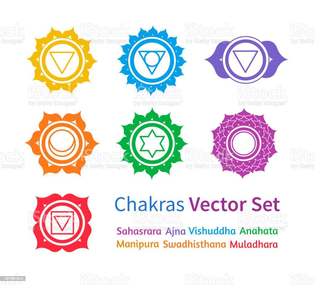 Chakras. Vector set. vector art illustration
