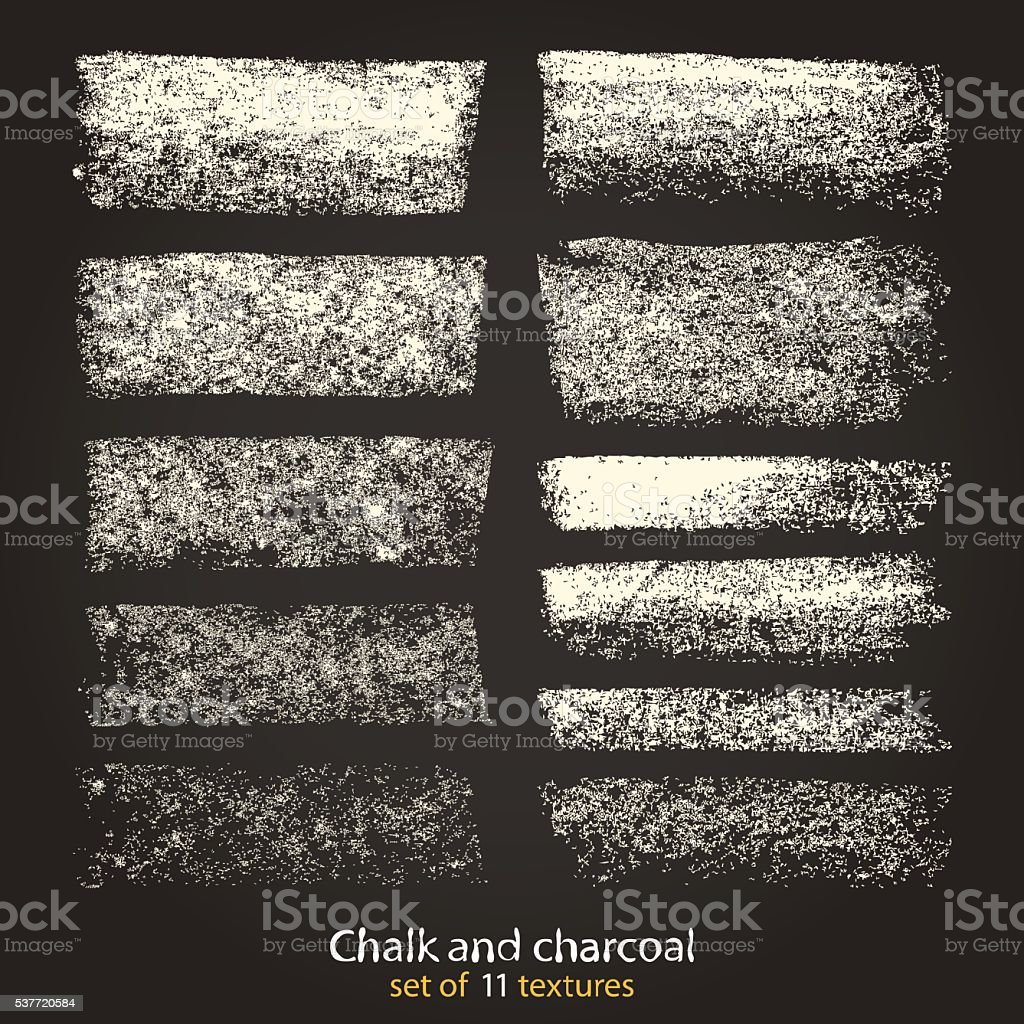 Chalk and charcoal vector art illustration