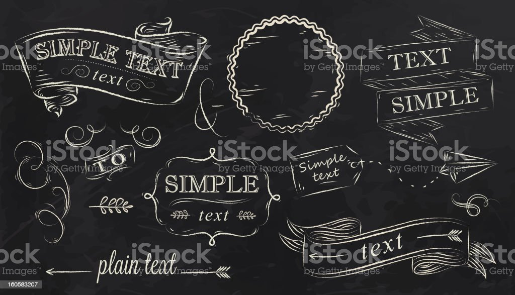 Chalk design elements vector art illustration