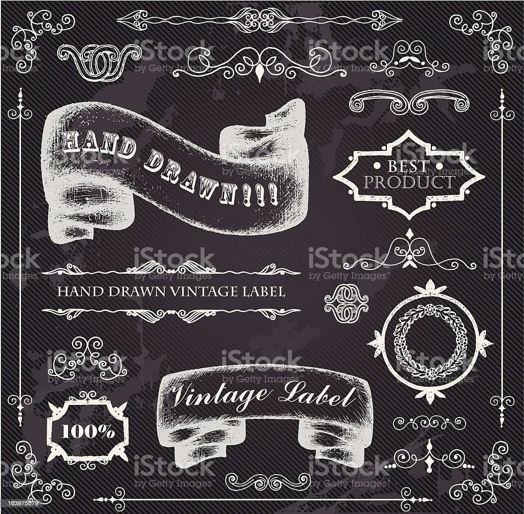 Chalk design elements royalty-free stock vector art