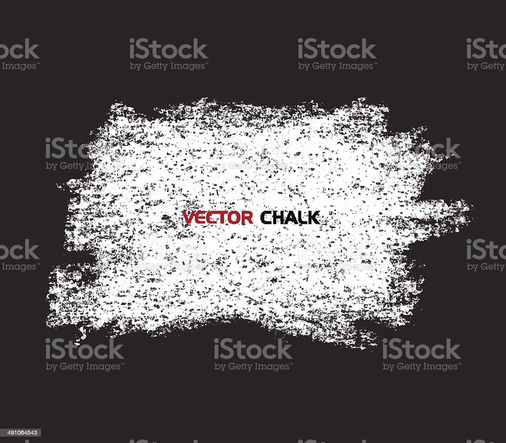 Chalk texture blot banner on blackboard. vector art illustration