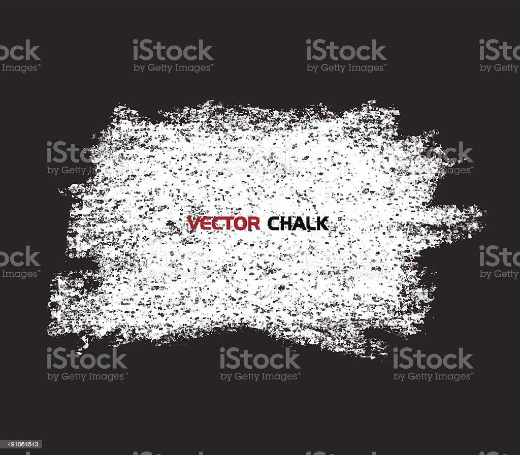 Chalk texture blot banner on blackboard. vector art illustration