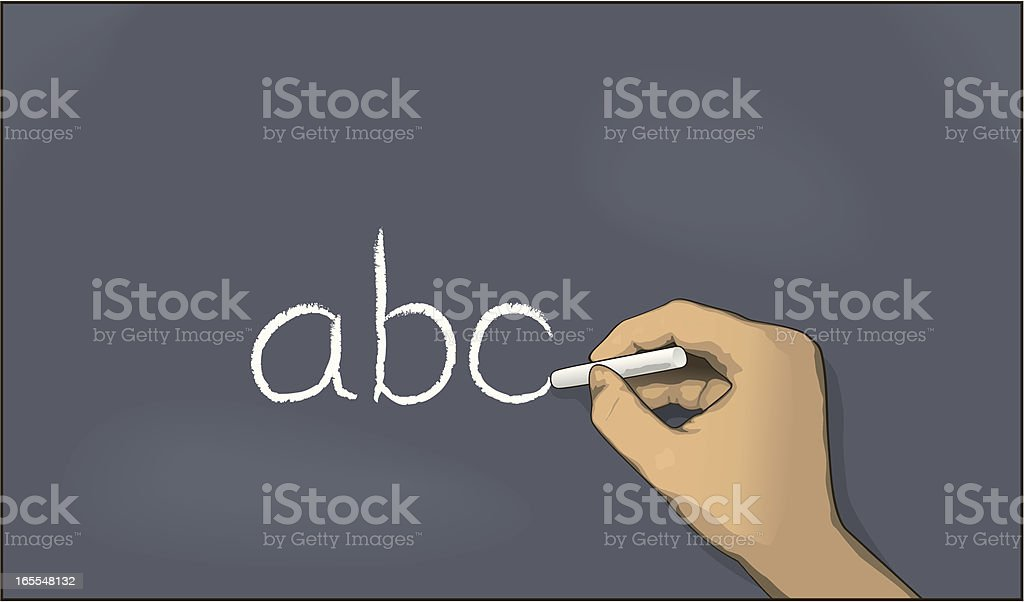 Chalkboard abc royalty-free stock vector art