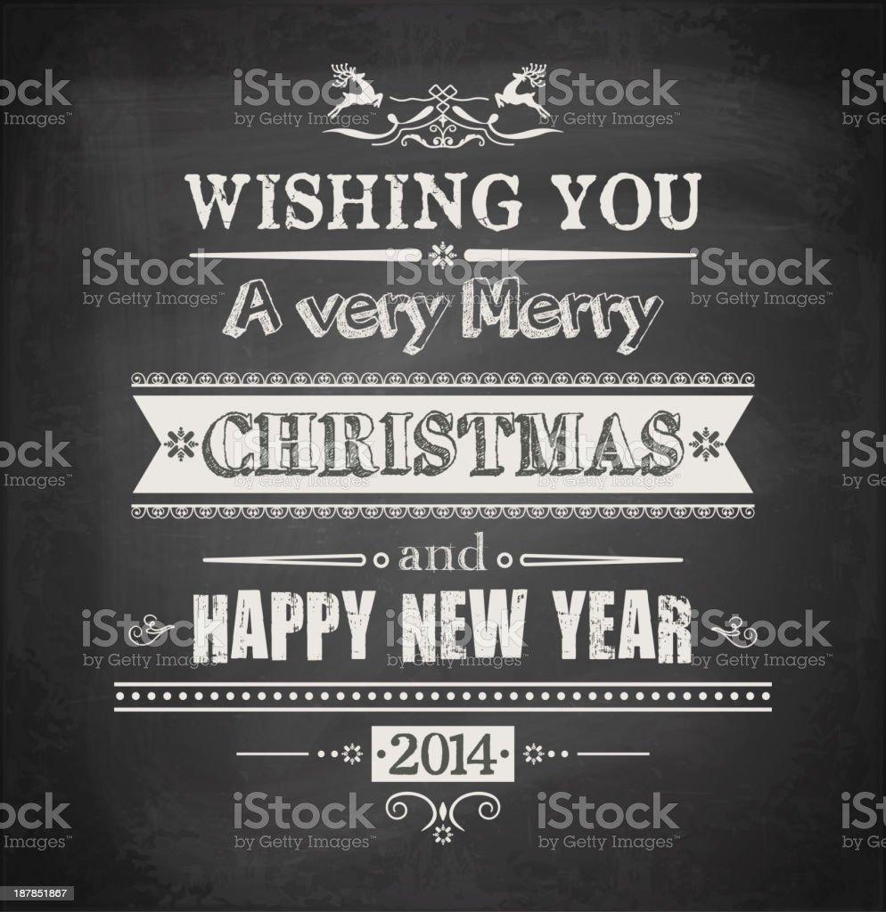 Chalkboard Christmas Background royalty-free stock vector art
