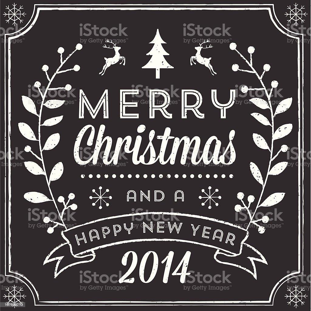 Chalkboard Christmas Greeting royalty-free stock vector art