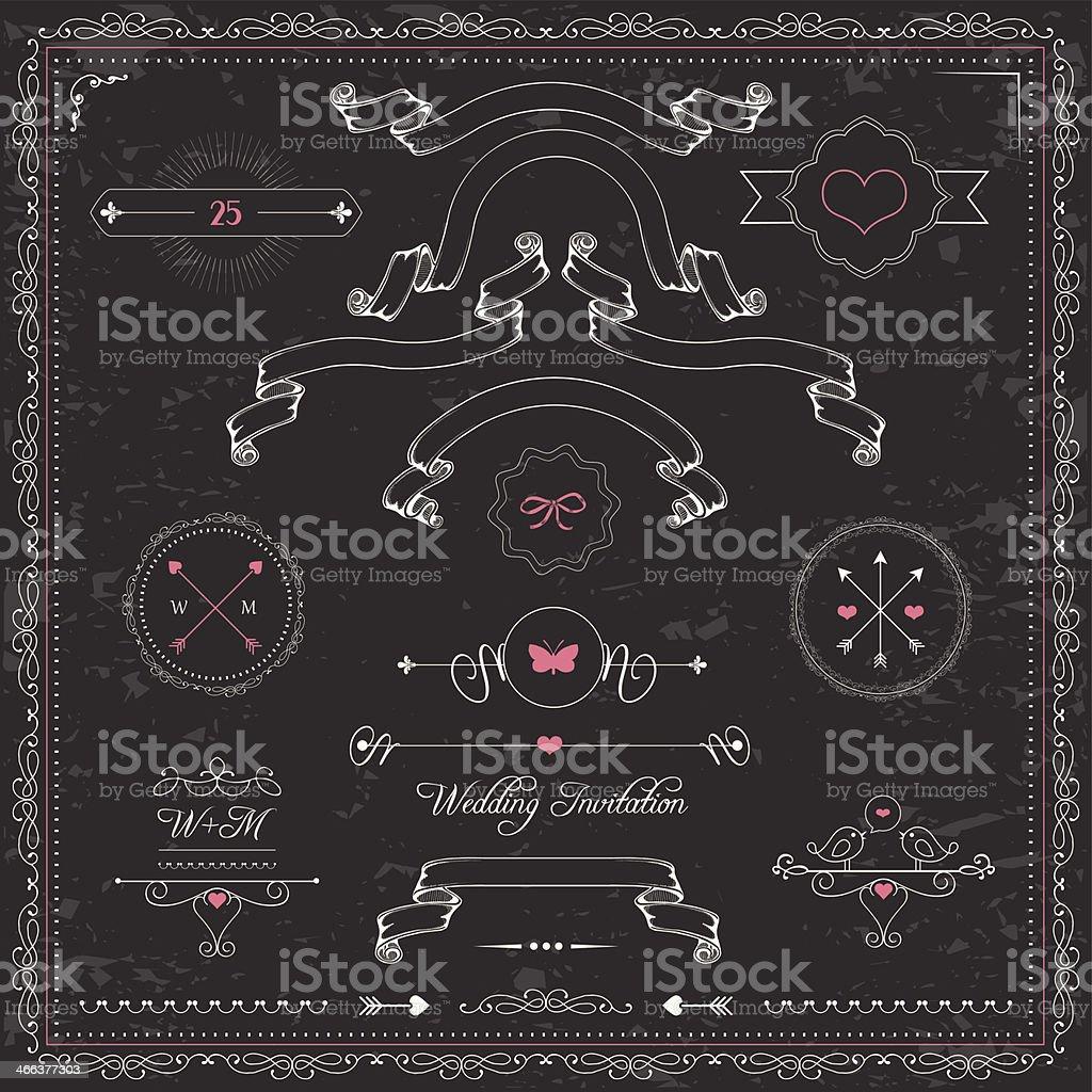 chalkboard design vector art illustration