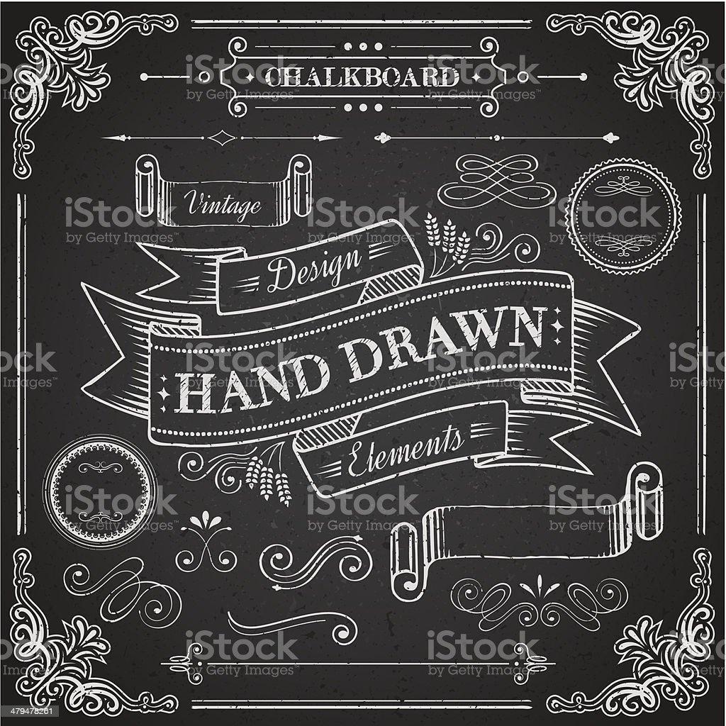 Chalkboard Elements royalty-free stock vector art