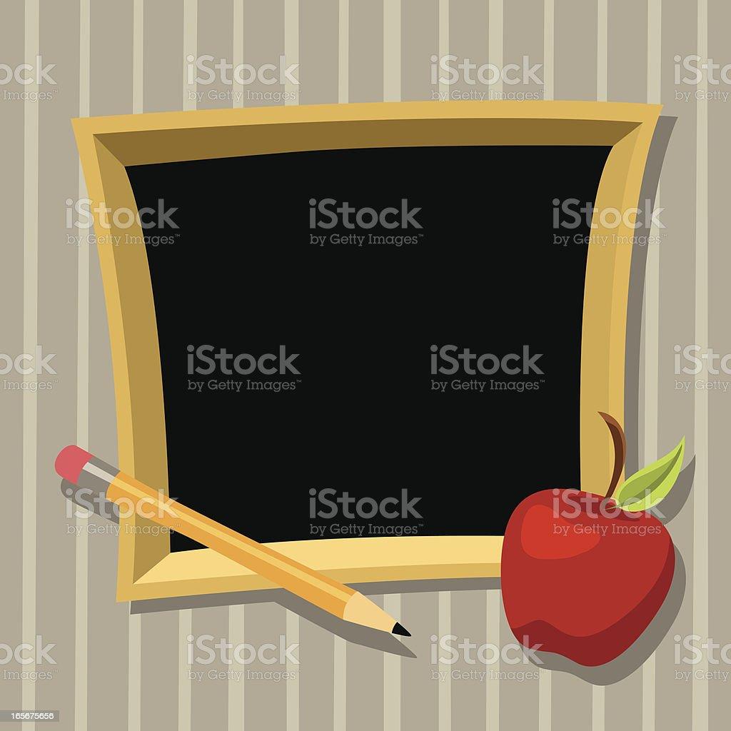 Chalkboard Frame royalty-free stock vector art