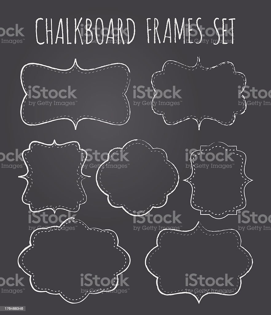 Chalkboard Frames Collection royalty-free stock vector art