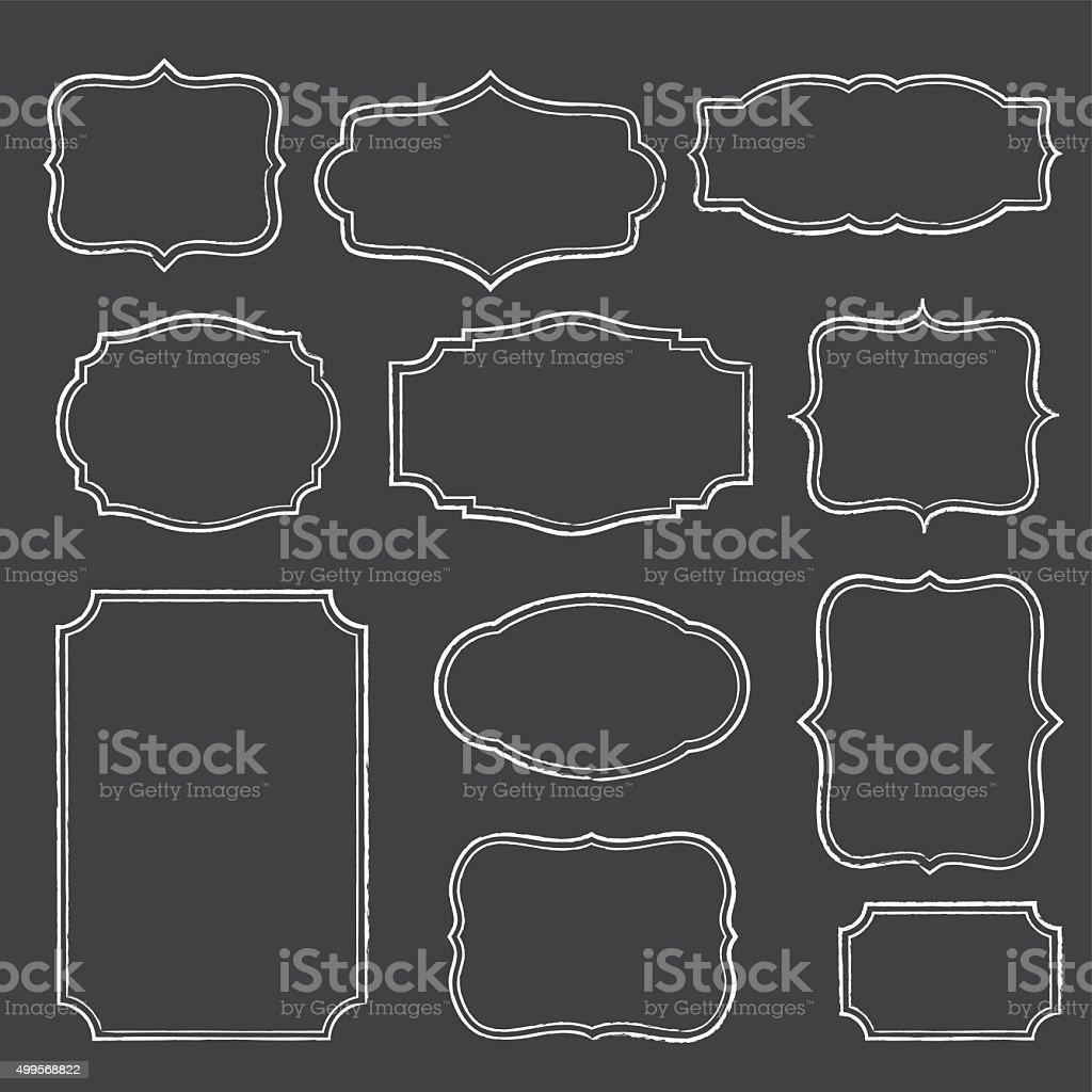 Chalkboard Frames vector art illustration