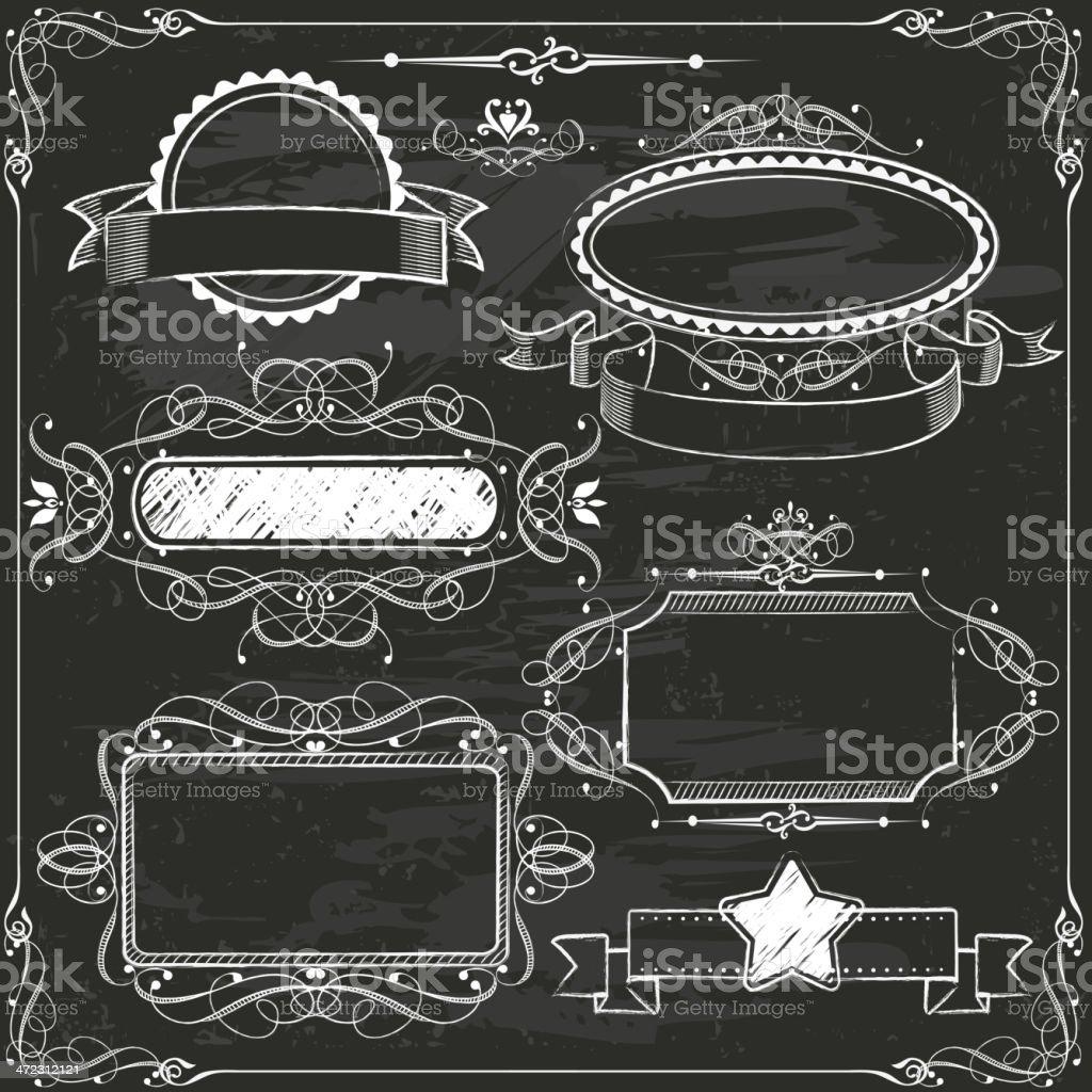 Chalkboard Handdrawn Design Elements royalty-free stock vector art