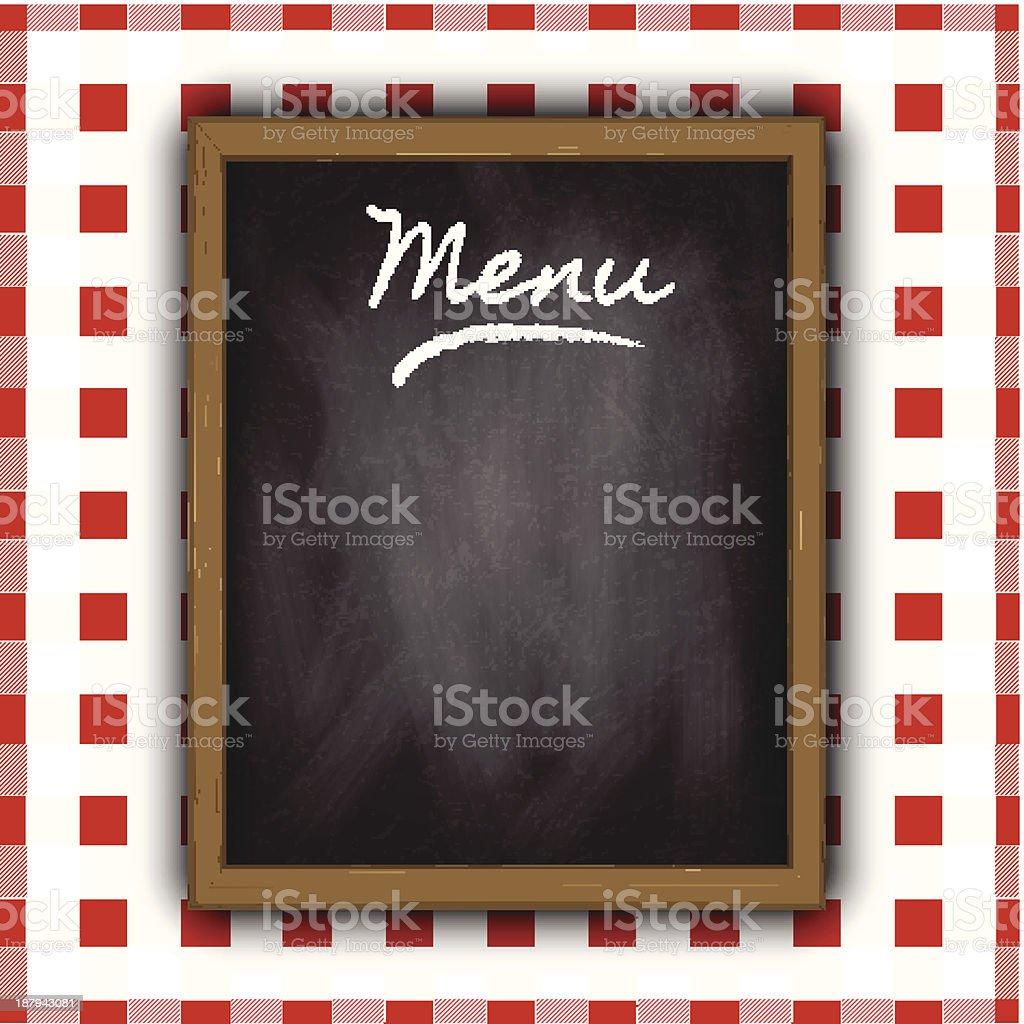 Chalkboard menu design royalty-free stock vector art