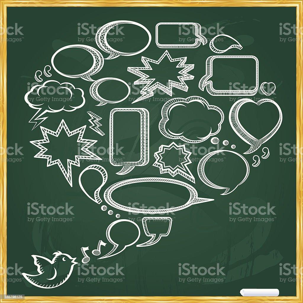 Chalkboard Speech Bubbles royalty-free stock vector art