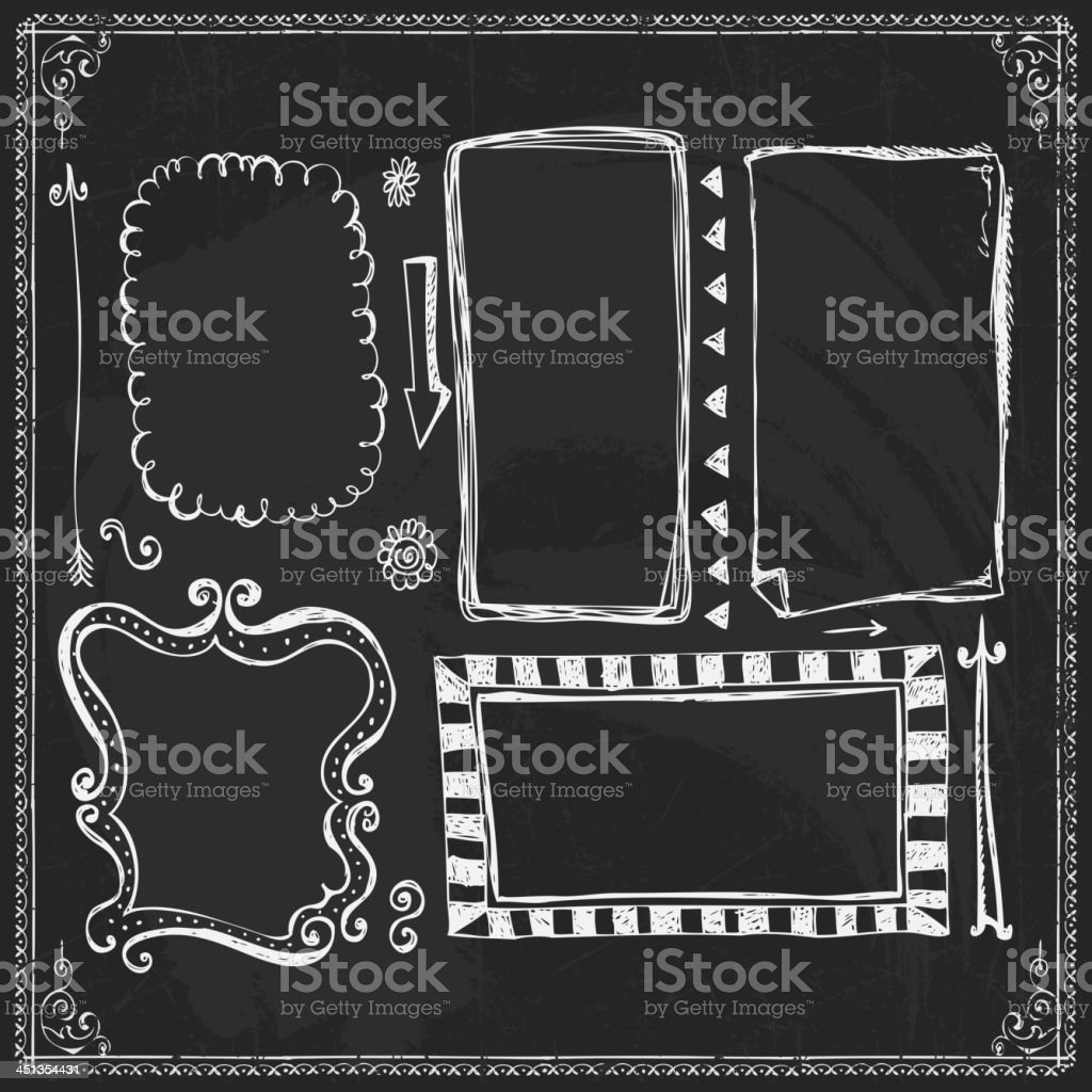 Chalkboard Style Vintage Design Element royalty-free stock vector art