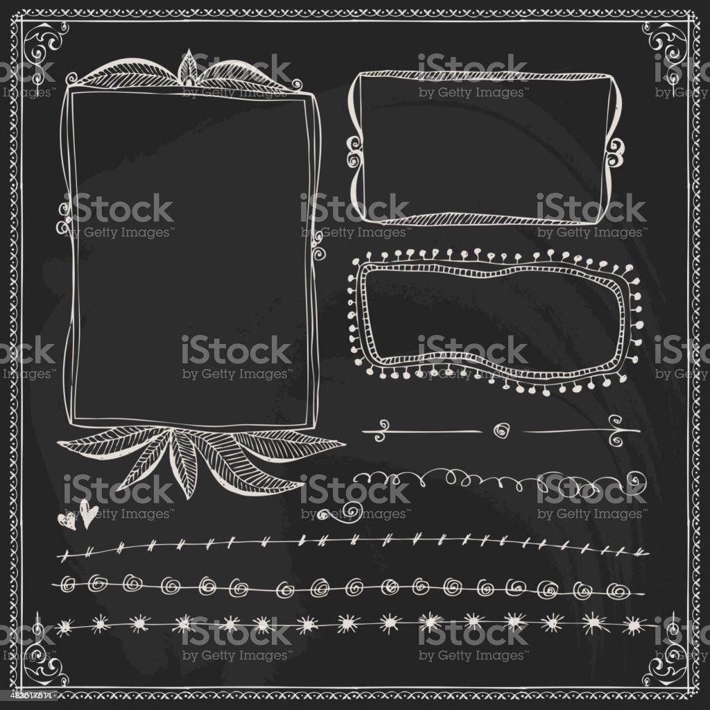 Chalkboard Style Vintage Design Element vector art illustration