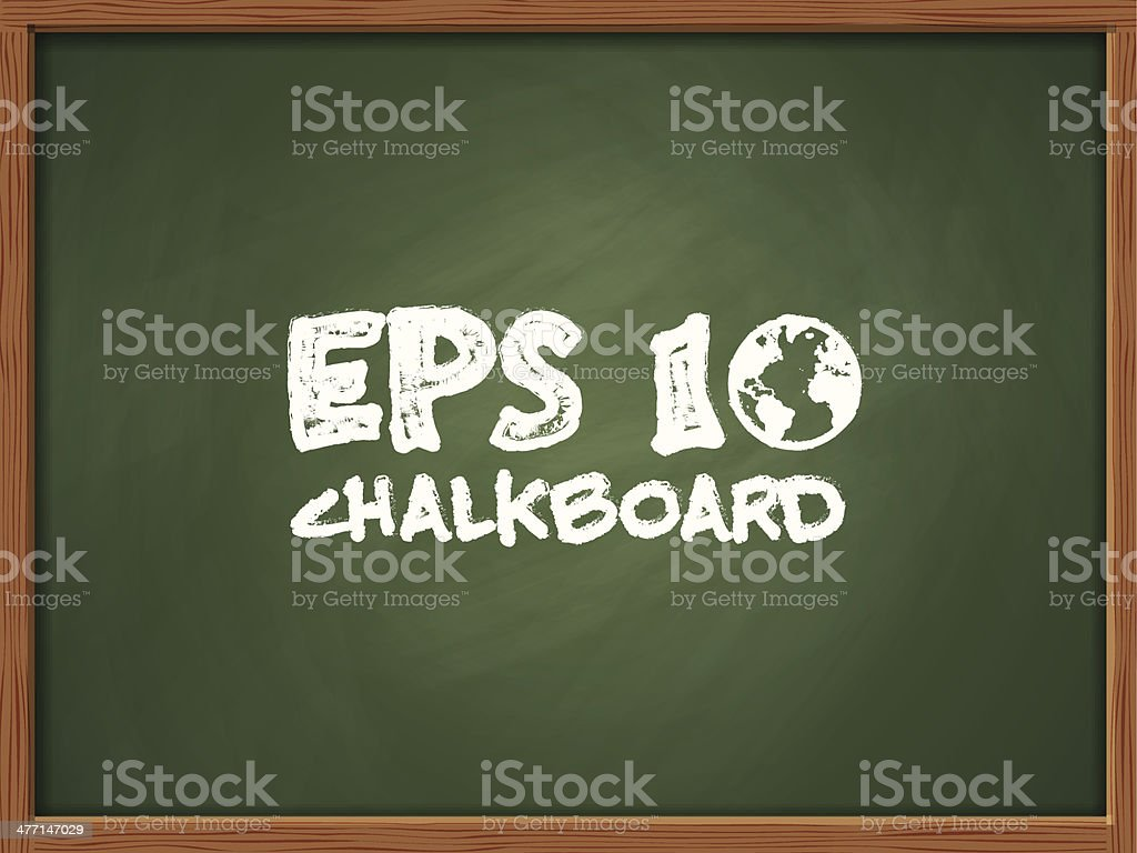 Chalkboard royalty-free stock vector art
