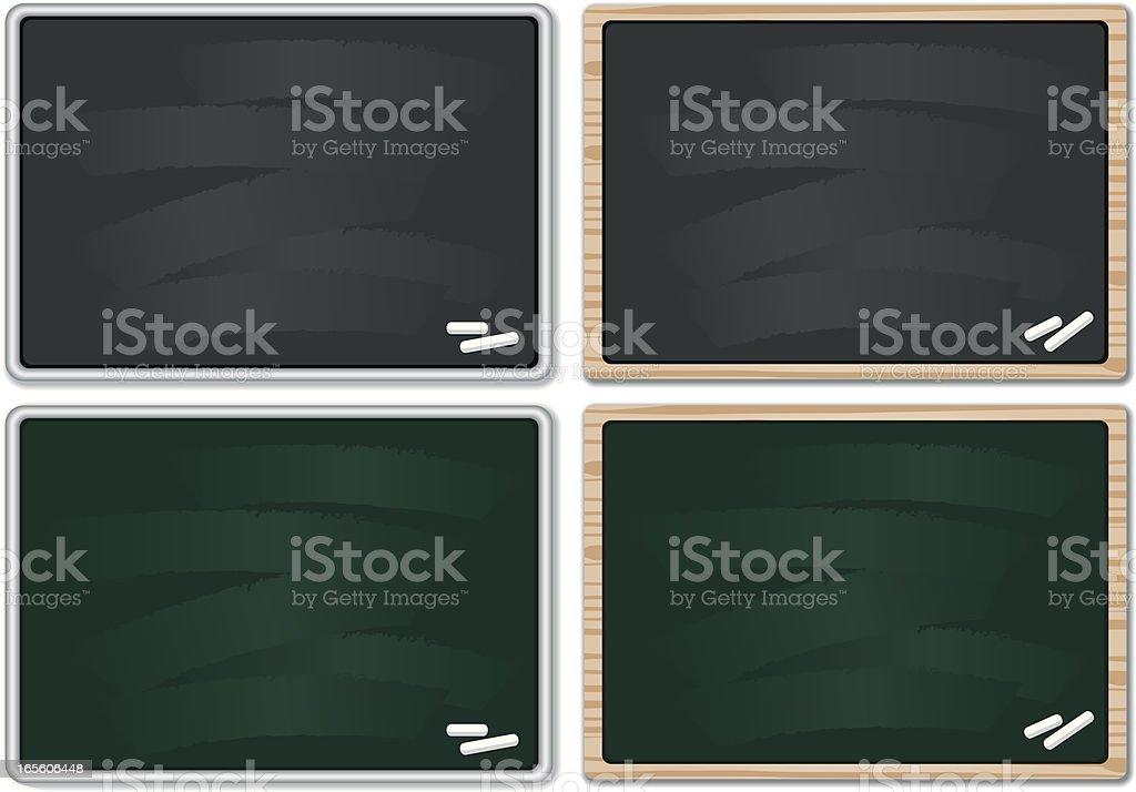 Chalkboards royalty-free stock vector art