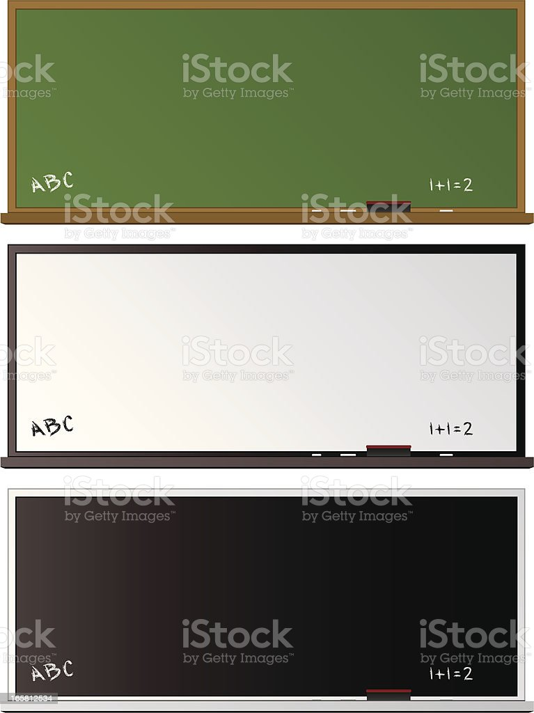Chalkboards royalty-free stock vector art