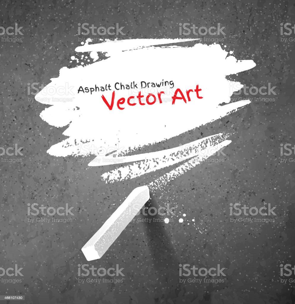 Chalked bubble vector art illustration