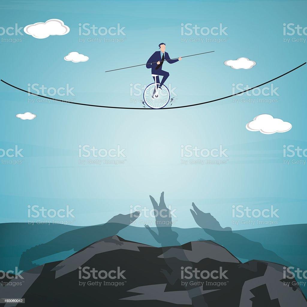 Challenge vector art illustration