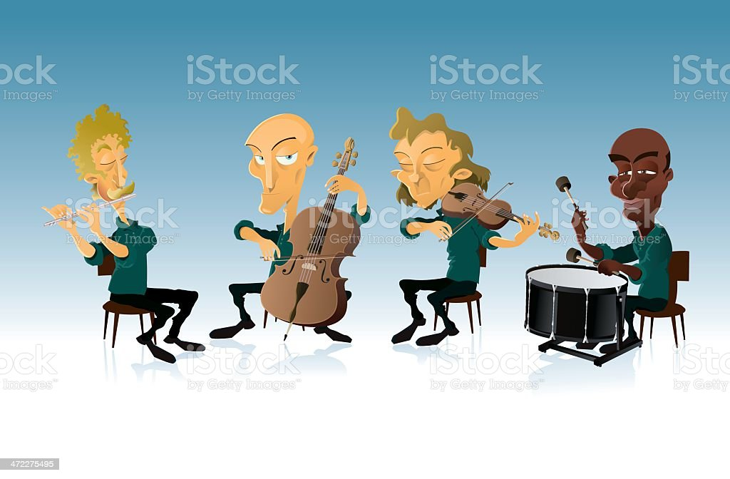 Chamber orchestra royalty-free stock vector art