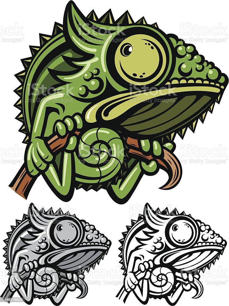 Chameleon cartoon character royalty-free stock vector art