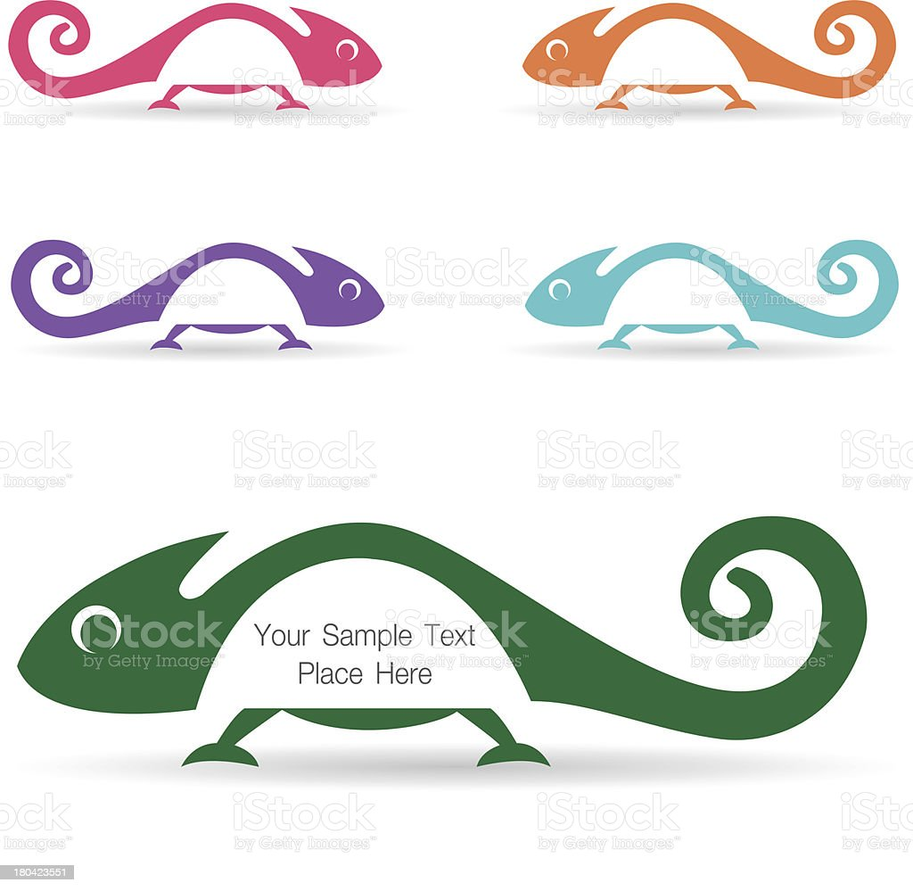 Chameleon royalty-free stock vector art