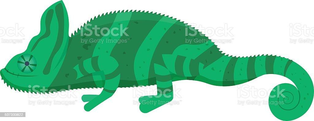 chameleon vector illustration isolated on a white background vector art illustration