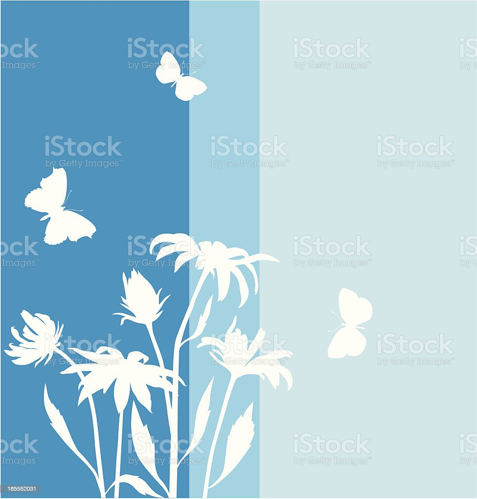 Chamomile in blue royalty-free stock vector art