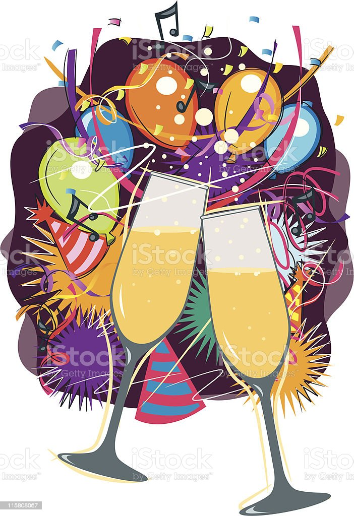 Champagne and celebration royalty-free stock vector art