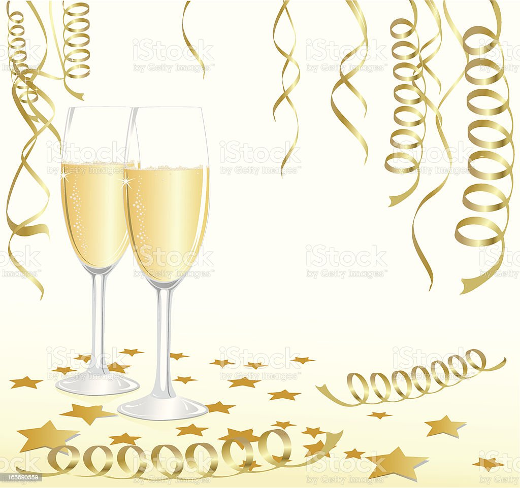 Champagne Celebrating royalty-free stock vector art