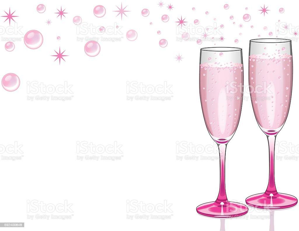 Champagne Celebration Background vector art illustration