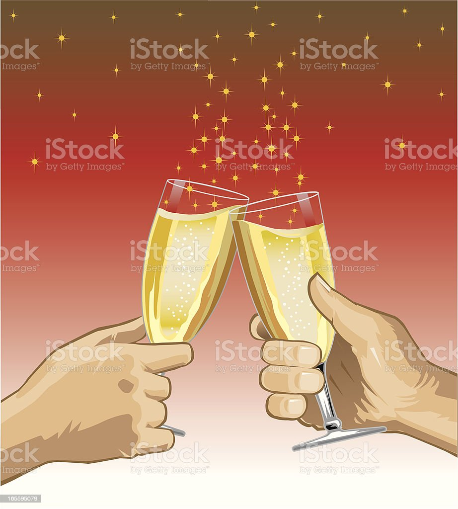 Champagne Celebration Toast royalty-free stock vector art