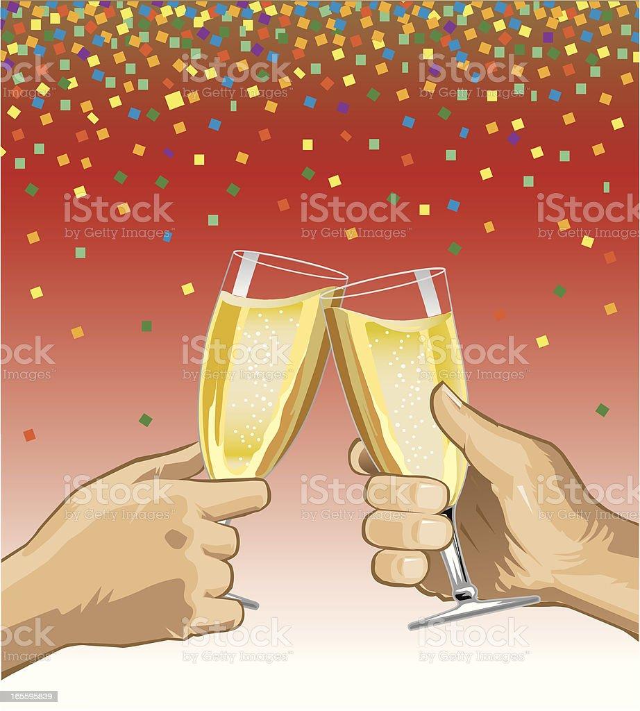 Champagne Celebration Toast royalty-free stock vector art