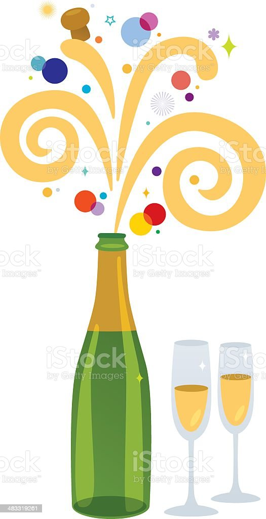 Champagne celebration royalty-free stock vector art
