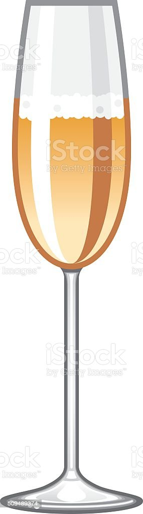Champagne Glass Icon vector art illustration