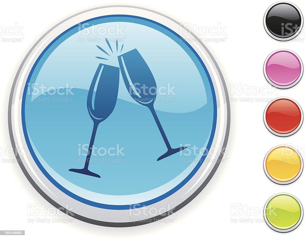 Champagne Glasses icon vector art illustration